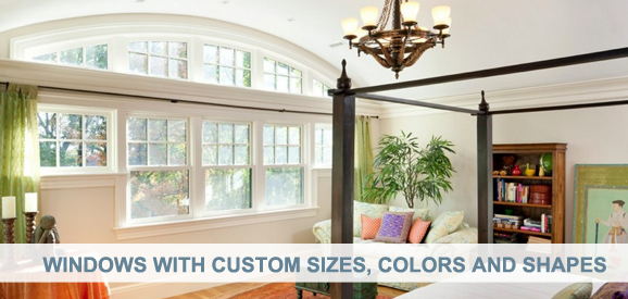 Windows With Custom Sizes, Colors and Shapes